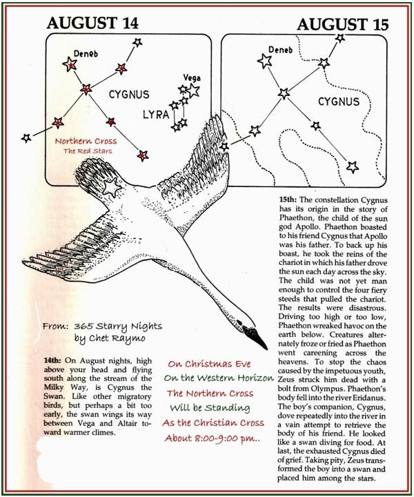Cygnus Northern Cross Map