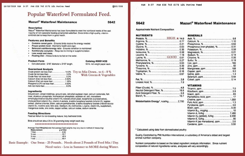 Mazuri Waterfowl Feed