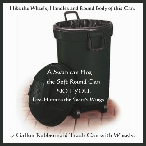 SWAN 32 Gallon Rubbermaid Trash Wheels