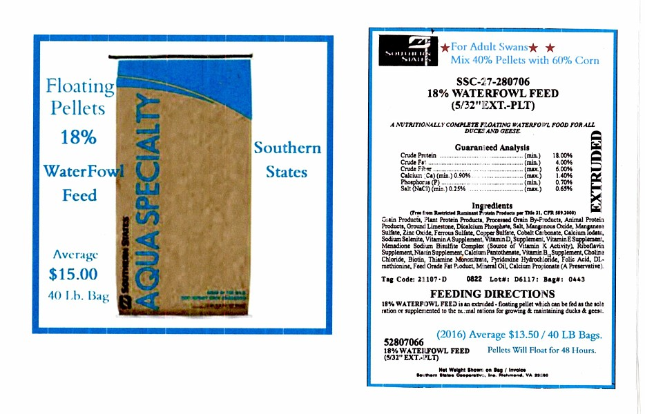 Southern States 18% WaterFowl Pellets