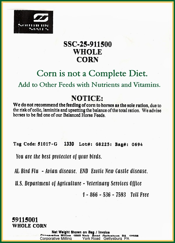 SWAN Feed SS Corn