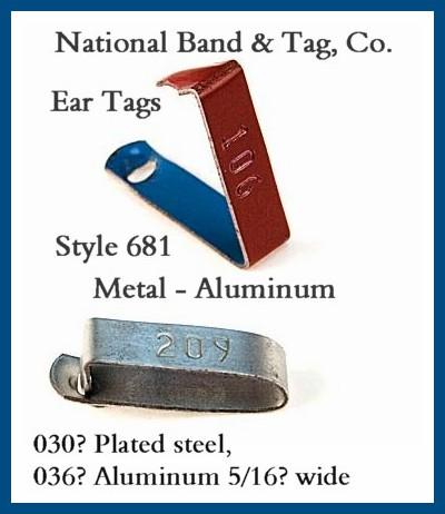 NB&T Metal Ear Tag 681
