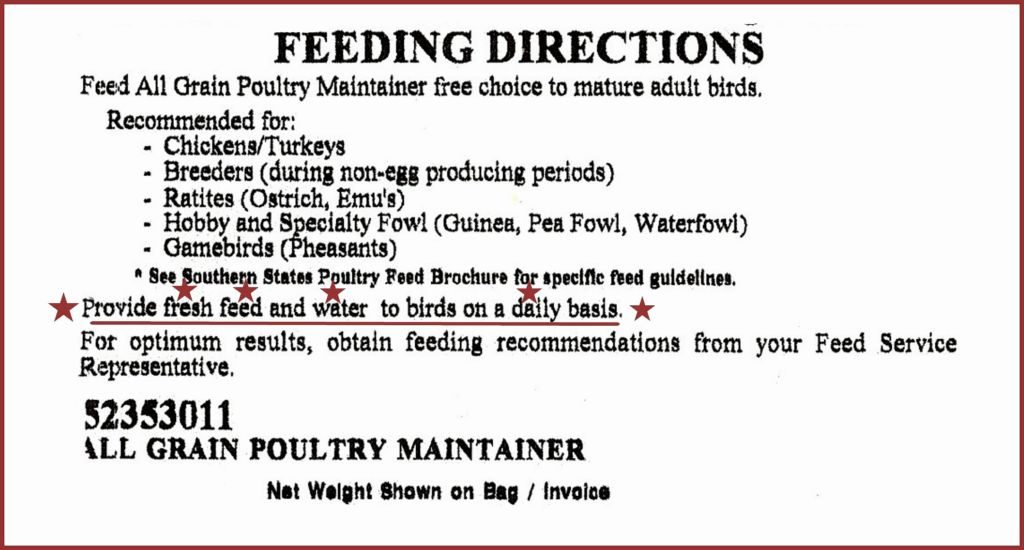 SWAN FRESH Daily Poultry Feeds