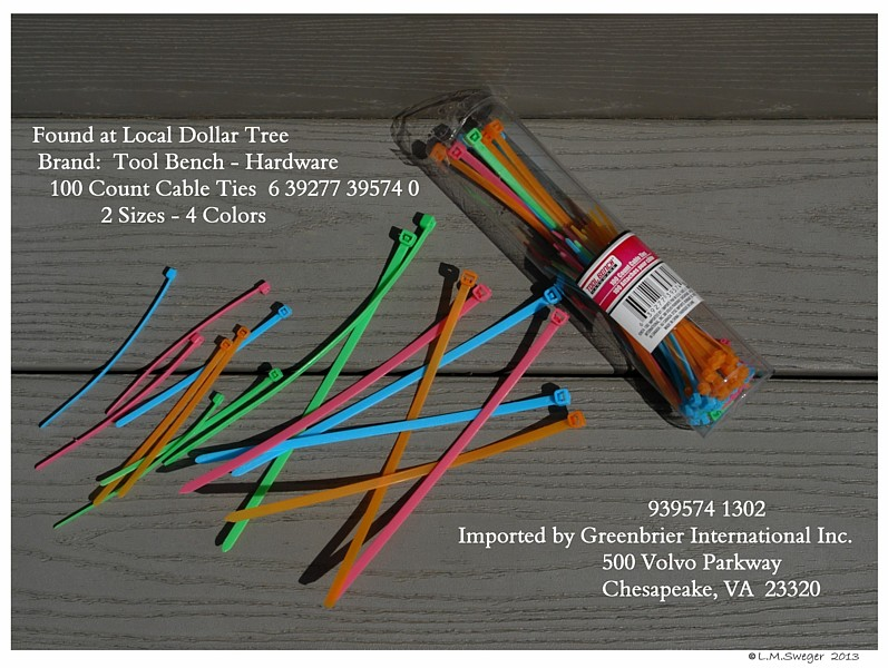 SWAN Cygnet Colored Cable Ties