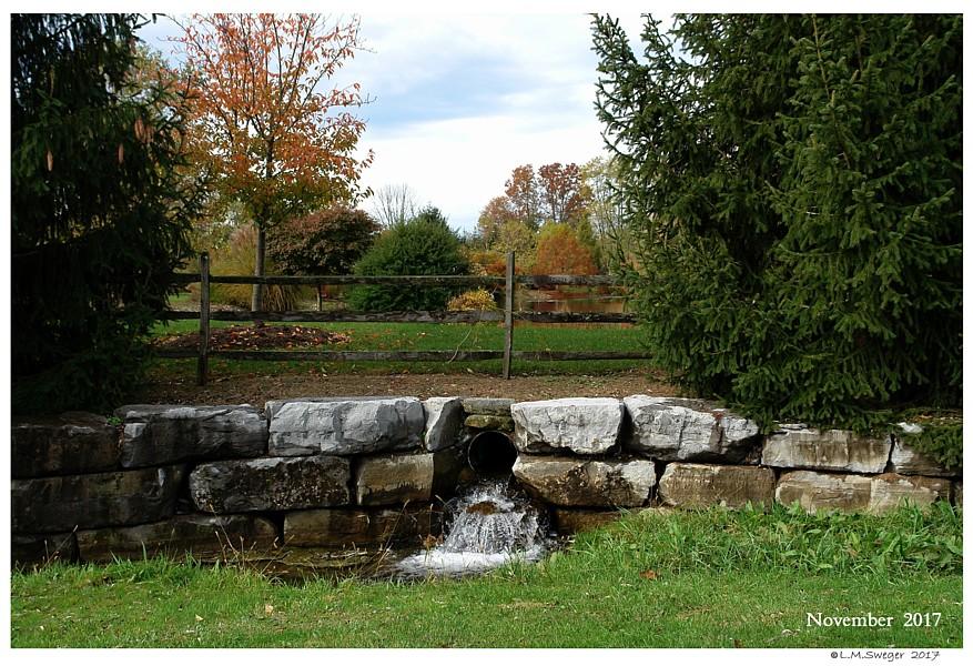 Pond Flow Through Spillway