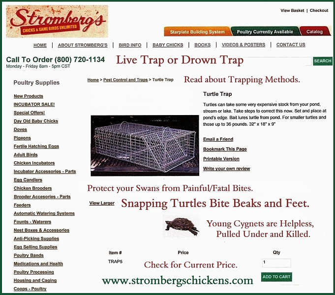 Snapping Turtle Traps