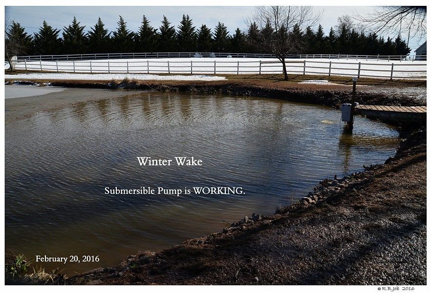 DeIcing Pond Lake SubSurface Diffuser